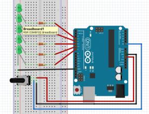 11-Potansiyometre İle Sıralı LED Yakma Söndürme