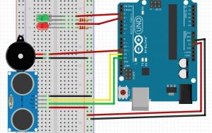 29-HC-SR04 ile Buzzer ve LED Kullanımı