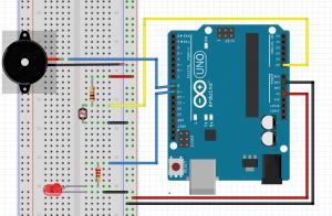 16-LDR ile BUZZER ve LED Kontrolü
